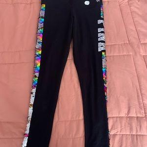 Pink leggings!